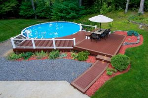 top view of deck remodel in Derry NH