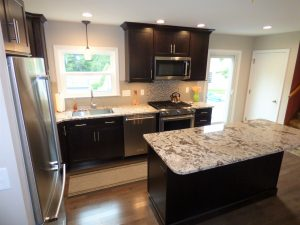 side view of kitchen remodel in Hampstead NH