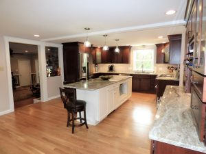 side view of kitchen remodel