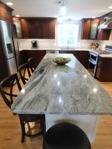view of new counter top installation in NH