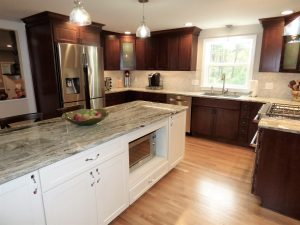 side view of kitchen remodel in NH