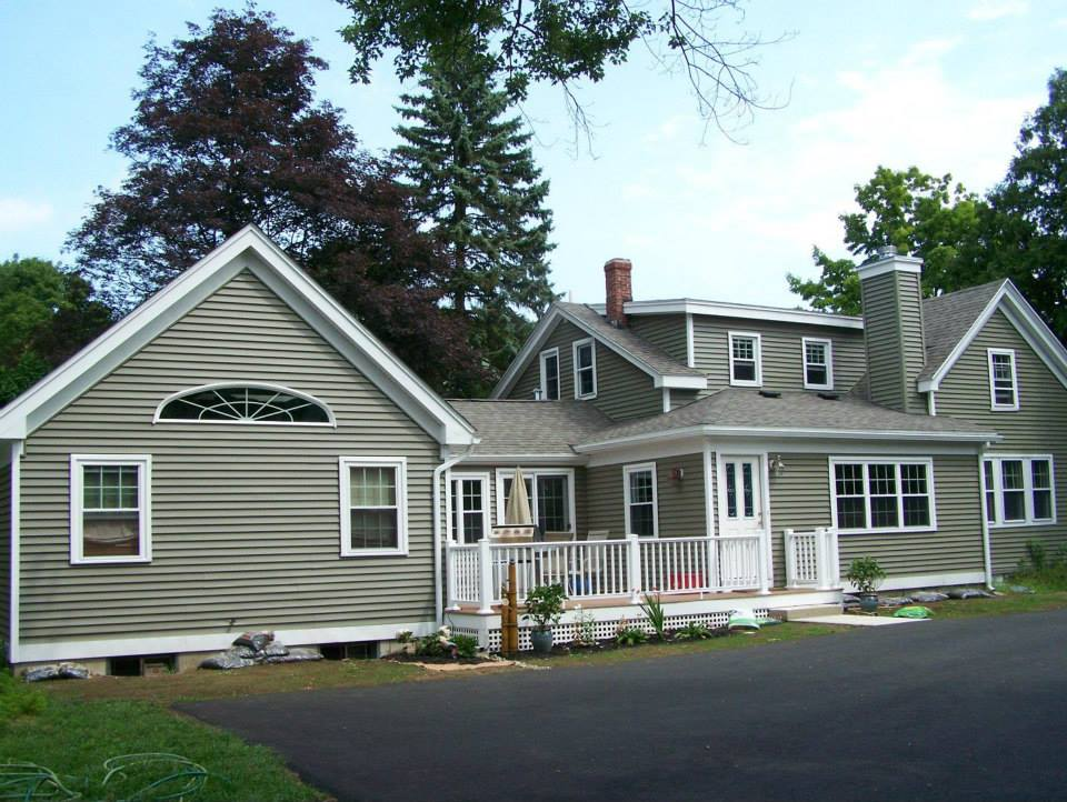 Back view of home addition on a house in Hampstead NH