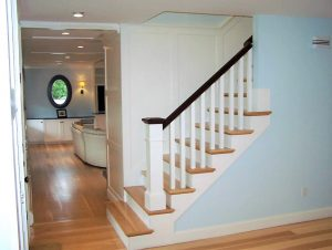 Custom window installation and stair work in a home in Hampstead NH