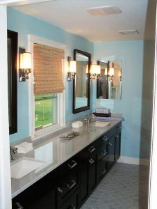 new master bathroom vanity installation