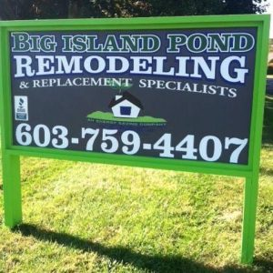 Big Island Pond Remodeling Sign