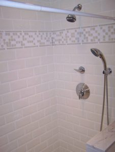Before view of shower
