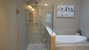 Beautiful bathroom remodel in Derry NH