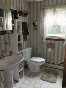 Before view of bathroom in Derry NH