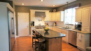 kitchen remodel with new counter top installation in Hampstead NH