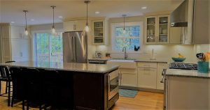 Beautiful new cabinetry in a home in Derry NH