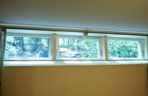 new window installation in a basement