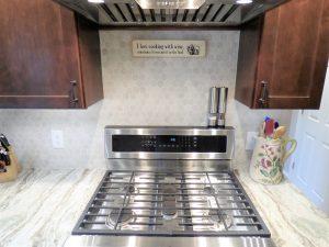 beautiful back splash in a kitchen remodel