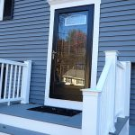 After view of front door replacement in Hampstead NH