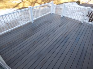 Composite deck addition in Newmarket NH