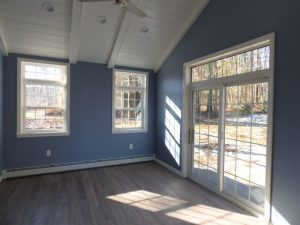 Sliding door installation in Southern NH