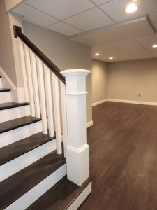 Beautiful hardwood floors in basement addition