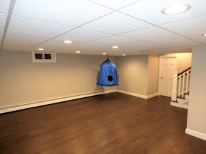 Basement renovation in Exeter NH