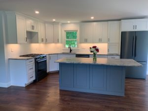 side view of kitchen remodel in Salem NH